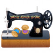 Sewing machine, vector — Stock Vector