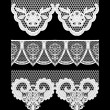 Lace seamless borders. Set of elements for design. — Stock Vector #30880021