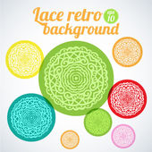 Background with colorful hand drawn elements — Stock Vector