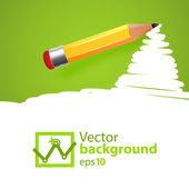 Vector pensil background with drawn spot — Stock Vector