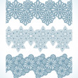 Snowflake Seamless Pattern Border — Stock Vector