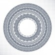 Circle ornament, ornamental round lace — Stock Vector