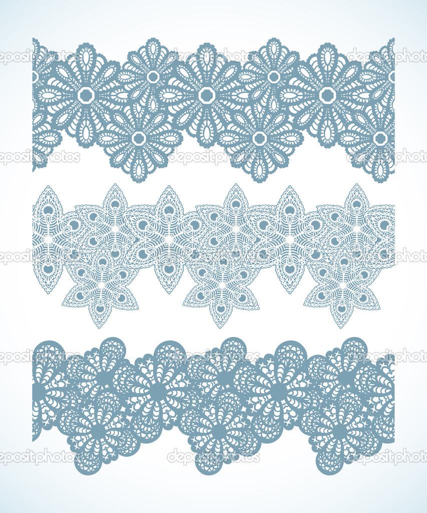 雪花纹理圣诞星星无缝图案边界 — 矢量图片作者 asakosakura