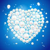 Pearl heart. Vector illustration. — Stock Vector