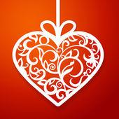 Heart paper decorative — Stock Vector