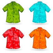 Hawaiian Aloha Shirts. Vector illustration — Stock Vector