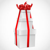 Gift boxes with red bow. Vector illustration. — Stock Vector