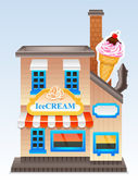 Vector ice cream store — Stock Vector