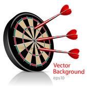 Dart Hitting A Target, Vector Background — Stockvektor