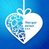Coração de papel decorativo — Vetorial Stock