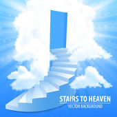 Steps, stairway to the sky — Stock Vector