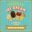 Vintage Ice Cream Poster. — Vetorial Stock