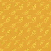 Yellow vintage seamless floral pattern — Stock Vector