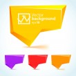 Colorful 3d bubble speech — Stock Vector