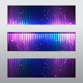 Dark colourful glowing banners. — Stock Vector