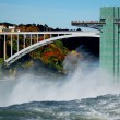 Stock Photo: Niagarfalls and rainbow bridge