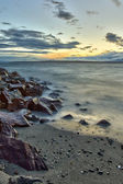 Edmonds beach at sunset on Puget Sound, Edmonds, Washington — Stock Photo