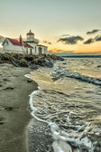 West Point Lighthouse at sunset — Stock Photo