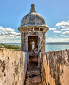 Sentry box at El Moro Fortress, San Juan — Stockfoto