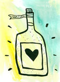 Bottle of Love — Foto de Stock