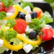 Royalty-Free Stock Photo: Salad with fresh vegetables and feta cheese