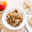 Stock Photo: Nutritious buckwheat porridge, top view