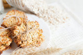 Low-fat whole-grain cookies — Stock Photo