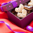 Royalty-Free Stock Photo: Valentine cookies in beautiful box