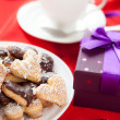 Sweet cookies for Valentine's Day — Stok fotoğraf