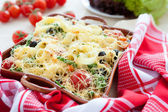 Pasta with cherry tomato and cheese — Stock Photo