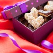 Cookies in the shape of hearts gift for Valentine's Day — Stok fotoğraf #18875423