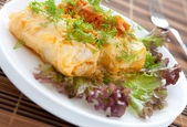 Cabbage roll vegetarian food — Stock Photo