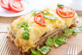 Vegetable lasagna with buckwheat and cheese — Stock Photo