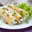 Italian cannelloni stuffed with spinach and cheese — Stock Photo #19168453