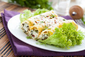 Cannelloni with ricotta and spinach — Stock Photo