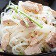 Stock Photo: Rice vermicelli with chunks tuna