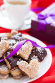 Cookies with chocolate and coconut — Stock Photo