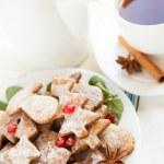 Sweet Christmas dessert - vanilla cookies — Stock Photo #19260059