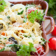 Flavored homemade pasta — Stock Photo #19443189