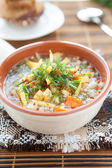 Light buckwheat soup — Stock Photo