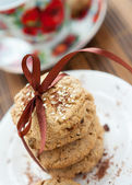 Shortbread cookies with sesame seeds — Stock Photo