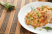 Flavorful cutlet with chives — Stock Photo