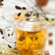 Tea of lime blossom with honey - Stock Photo