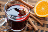 Traditional mulled wine with spices and citrus. — Stock Photo