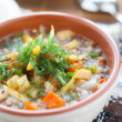 Stock Photo: Thick soup with roasted vegetables