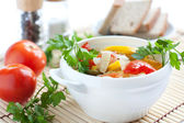 Wholesome vegetables, steamed. Healthy food — Stock Photo