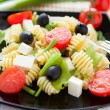 Stock Photo: Cooked pastwith vegetables and feta