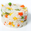Boiled rice with vegetables — Stock Photo #21229717