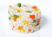 Boiled rice with vegetables — Stock Photo