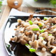 Salad of marinated honey agarics — Stock Photo #21240181